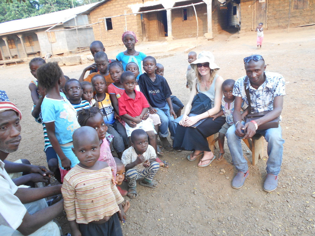 Heather Cumming with SSAAP in Sierra Leone